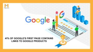 41% of Google's First Page Contains Links to Google Products