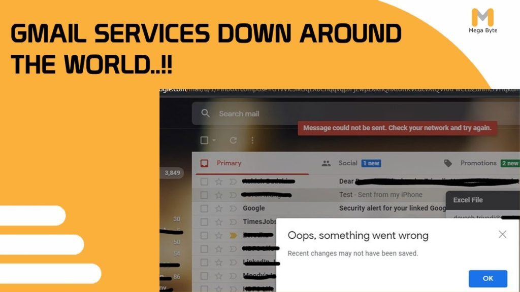Google email services are down around the world.